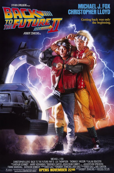 Poster of Back To The Future 2 (1989) Hindi 720p BRRip Dual Audio Full Movie