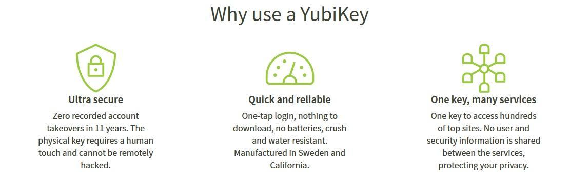 YubiKey Reasons for Using