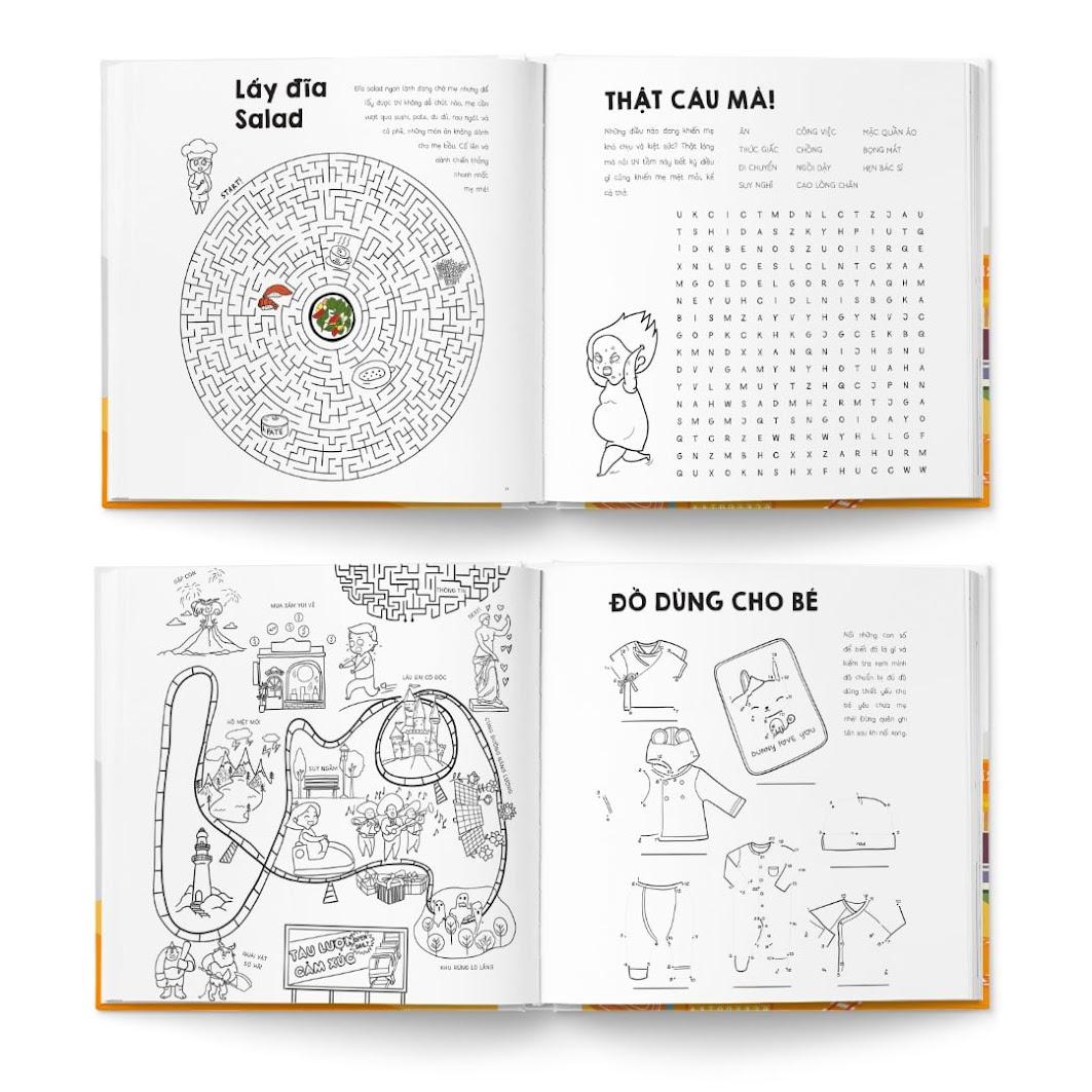 [A116] Activity book: Combo sách thai giáo số 1 cho Bà Bầu