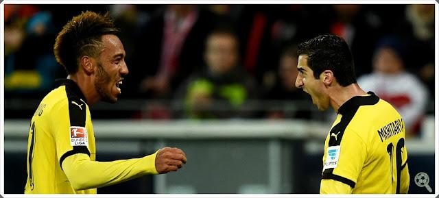 Aubameyang Mikhtaryan Borussia Dortmund