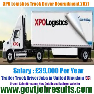 XPO Logistics Class 1 Driver Recruitment 2021-22
