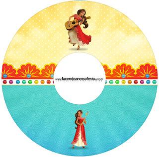 Etiquetas de Elena de Avalor para CD's.