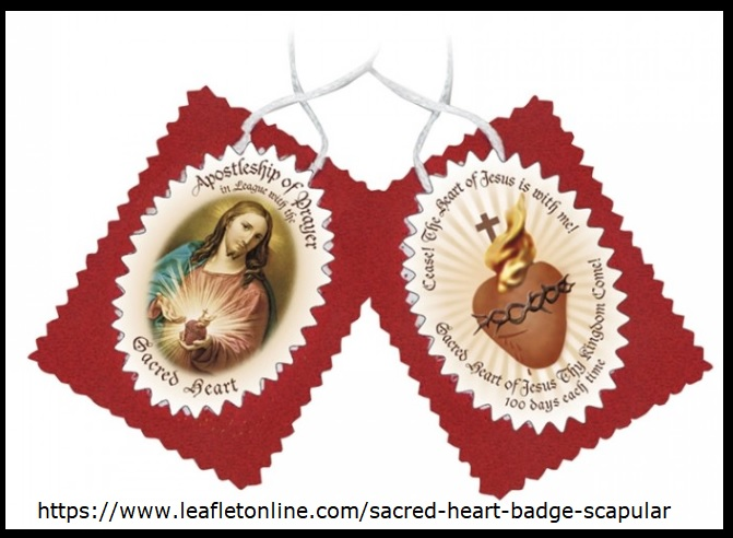 Connecticut Catholic Corner Scapular Of The Sacred Heart