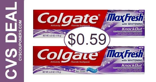 Colgate Toothpaste CVS Deal 5-24-5-30