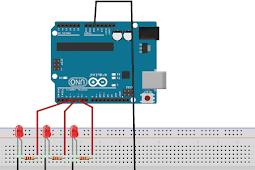 Membuat Program Lampu LED Berjalan Menggunakan Arduino UNO