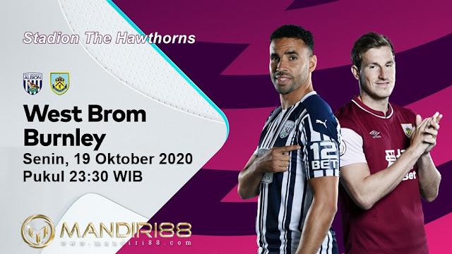 Prediksi West Bromwich Albion Vs Burnley, Senin 19 Oktober 2020 Pukul 23.30 WIB @ Mola TV