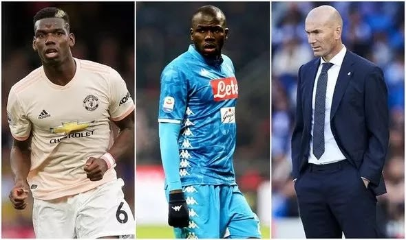 Zidane looks to a double deal worth £107million for manchester united