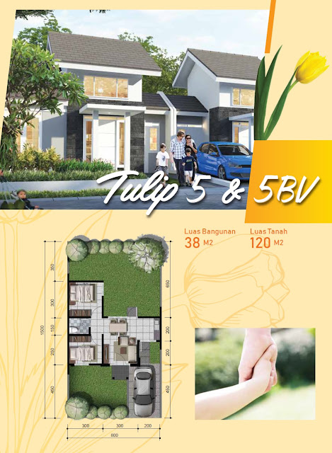 Desain Fasad dan Denah Rumah Tulip 5 & 5 Blv Citra Indah City