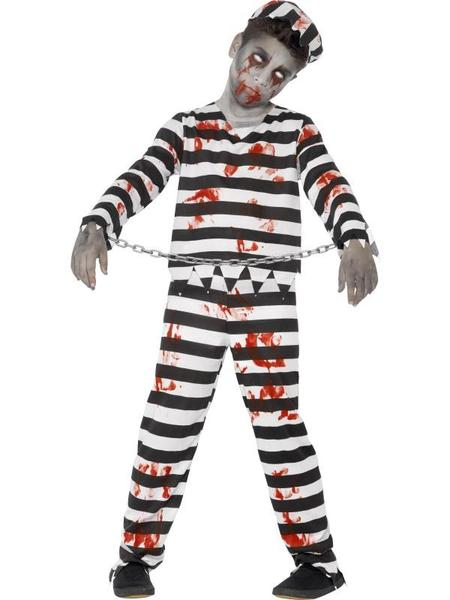 Classic Convict Costume Smithy/'s Cops /'N/' Robbers Convict Fancydress with Acces