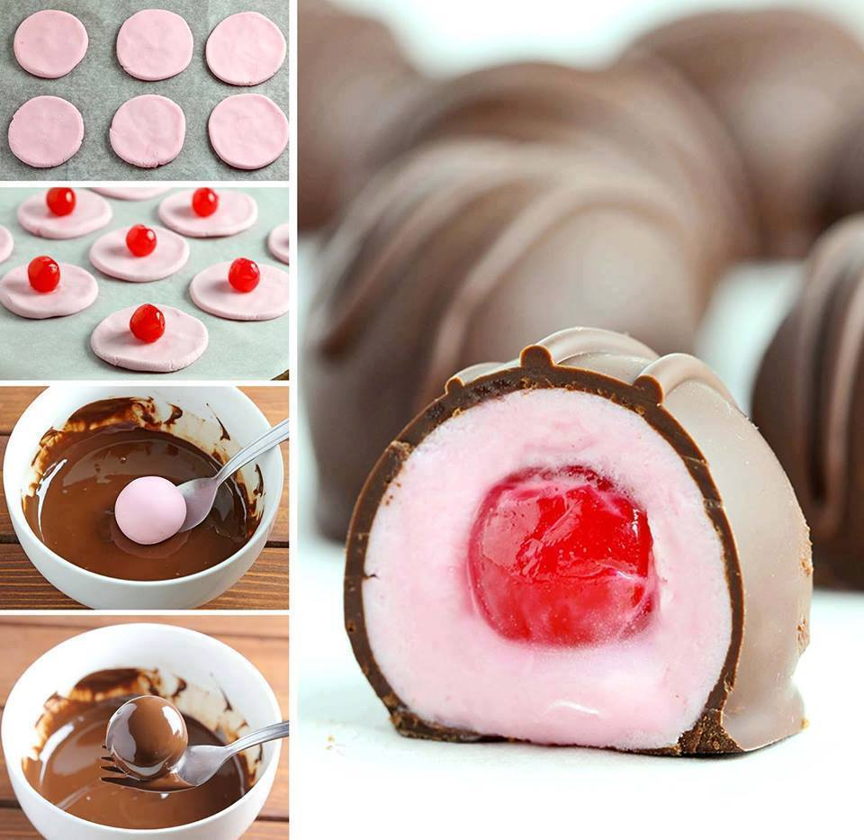 Idees And Solutions: Easy Chocolate Covered Cherries