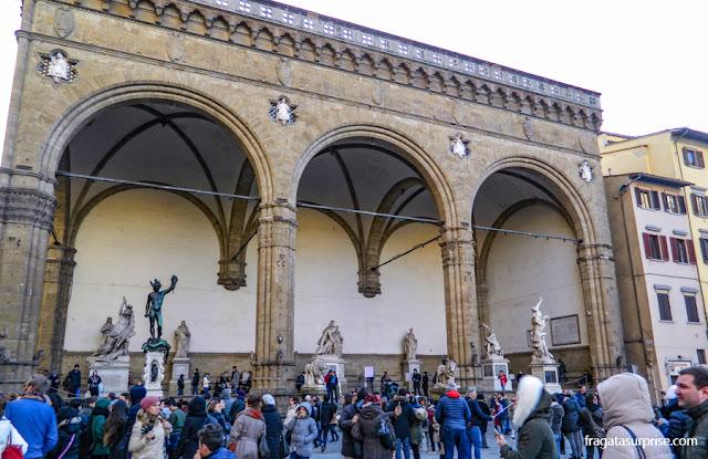 Loggia dei Lanzi, na Piazza della Signoria, Florença