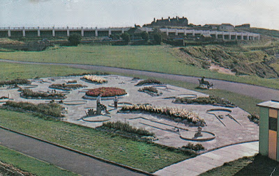 Crazy Golf Course & Eastern Shelter, Barry Island. P47856. Plastichrome by Colourpicture Publishers Inc. Posted 27 August. Year unknown