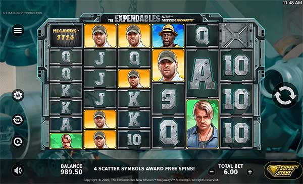 Main Gratis Slot Indonesia - The Expendables New Mission Megaways (Stakelogic)