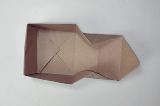 Square Paper Box Step by Step