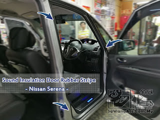 Nissan Serena Sound Noise Insulation Door Stripe
