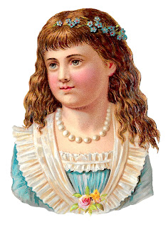 girl antique stock image child victorian digital download illustration