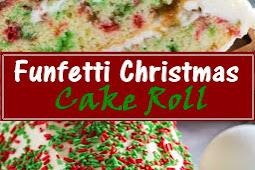 Funfetti Christmas Cake Roll Recipe