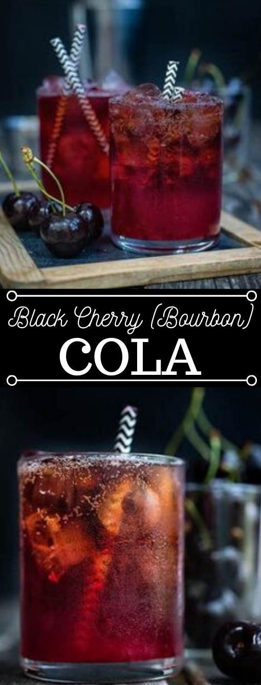 BLACK CHERRY BOURBON COLA SMASH #drink #cherry #black #party #cocktail