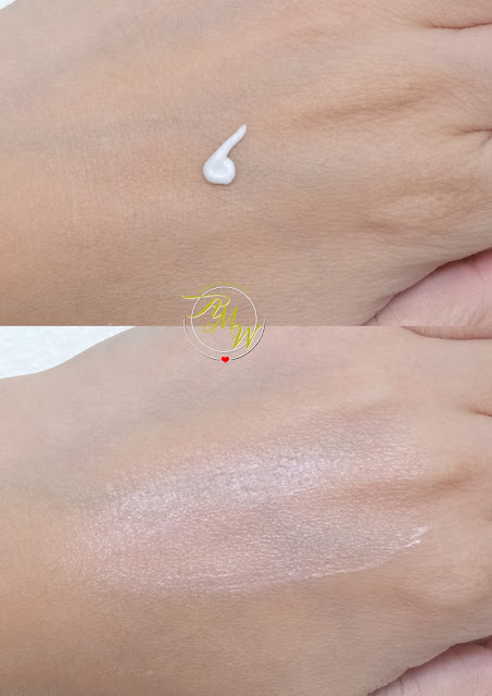 a swatch photo of Cloud Cosmetics Milky Way Face Cream Illuminating Moisturizer Review