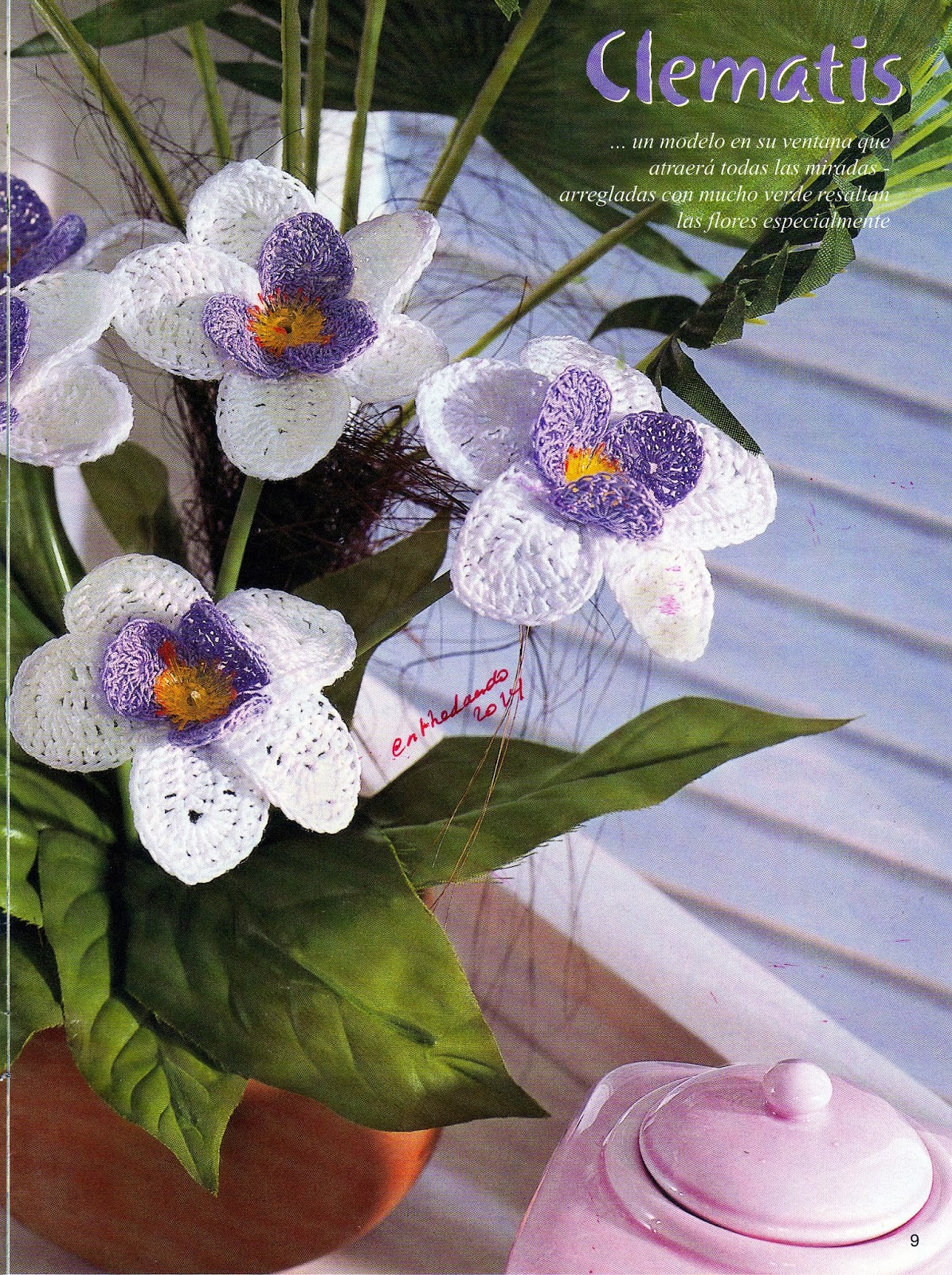 Flores de croche patrones blancas y malvas patrones crochet - Hacer flores de ganchillo ...