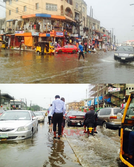 Wow! See Photos of Massive Flood in Ikeja, Lagos After Heavy Downpour