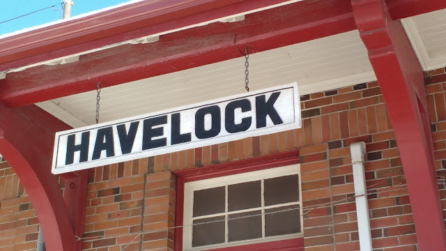Havelock, Ontario Train Station Sign