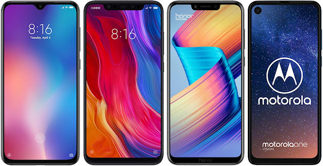 Xiaomi Mi 9 SE vs Xiaomi Mi 8 vs Honor Play vs Motorola One Vision