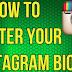 Instagram Center Bio