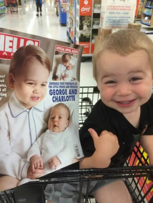 11 Funny Pictures Of Babies Who Resemble Popular Celebrities - As for my son, he rightly considers himself a member of the Royal Family.