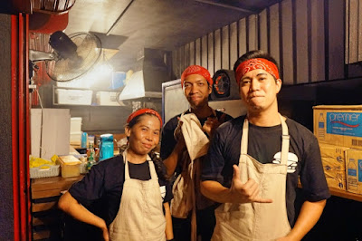 The awesome midnight crew of Stoke Burgers Cebu