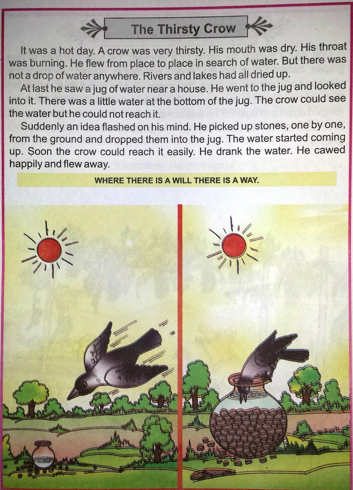 Online Hindi English And Punjabi Comics The Thirsty Crow