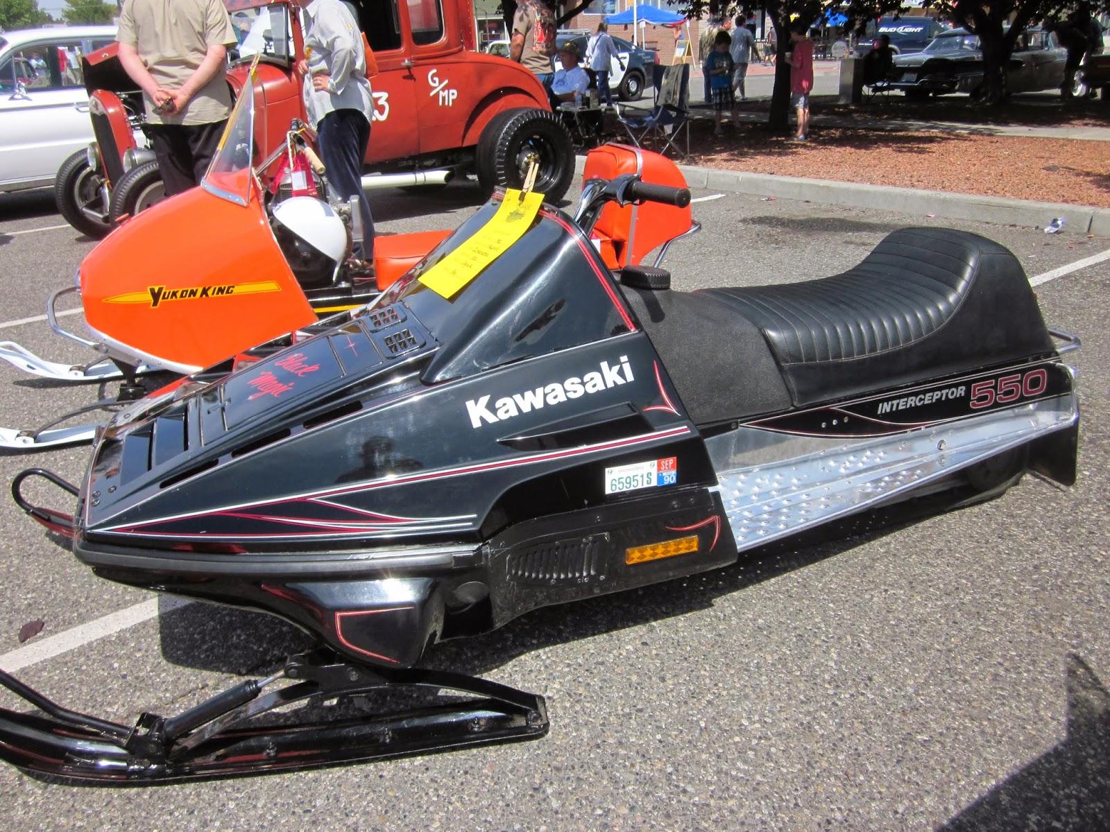 oldmotodude: 1982 kawasaki 550 interceptor snowmobile on display