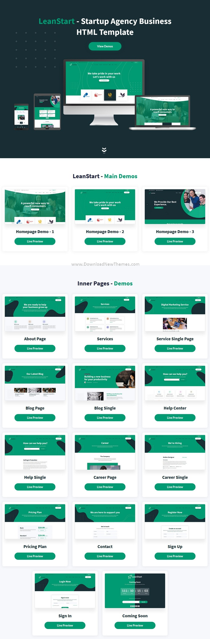 Startup Agency Business HTML Template