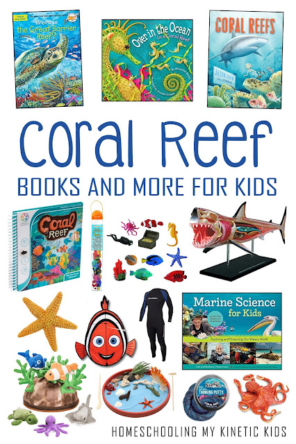 Learn more about the coral reef around the world with these great books and educational toys.  Grab a pile for Earth Day or to make any to enhance your ocean studies