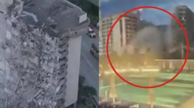 Giant building collapses in the US fears of mass killings