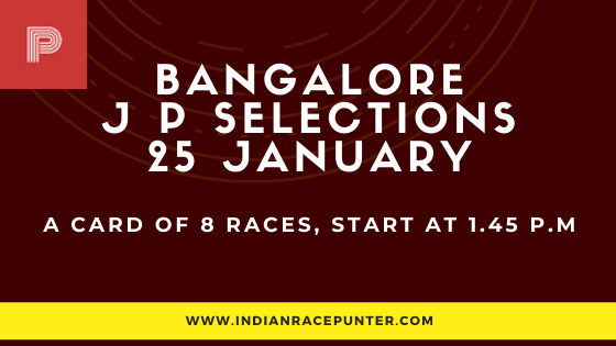 Bangalore Jackpot Selections 25 January,