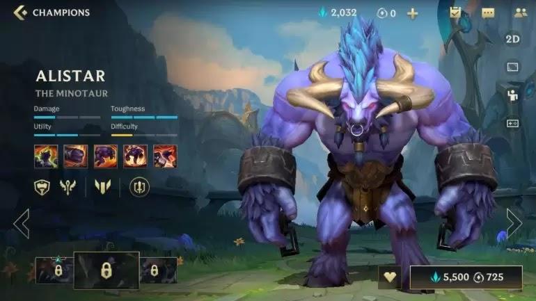 Alistar League of Legends: Wild Rift
