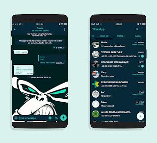 Dark Mint Theme For YOWhatsApp & Fouad WhatsApp By Suken