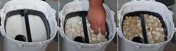 Setup fourth basket of canister filter