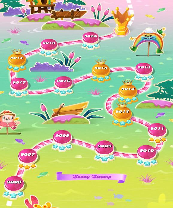Candy Crush Saga level 9006-9020