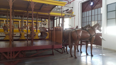 visit to the Carris Museum (old buses and trams in Lisbon)