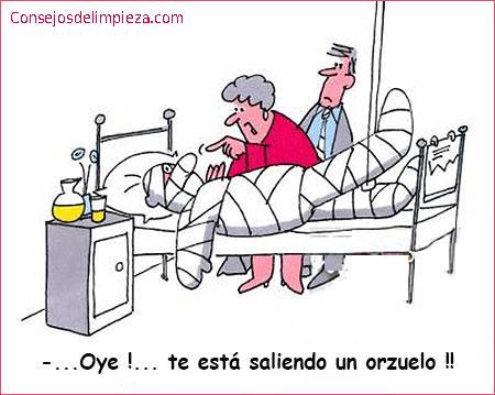 Hombre en la cama y mujer haciendo un chiste