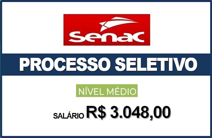 Senac abre processo seletivo para Auxiliar Administrativo com salário de R$3,048.00. Saiba Mais
