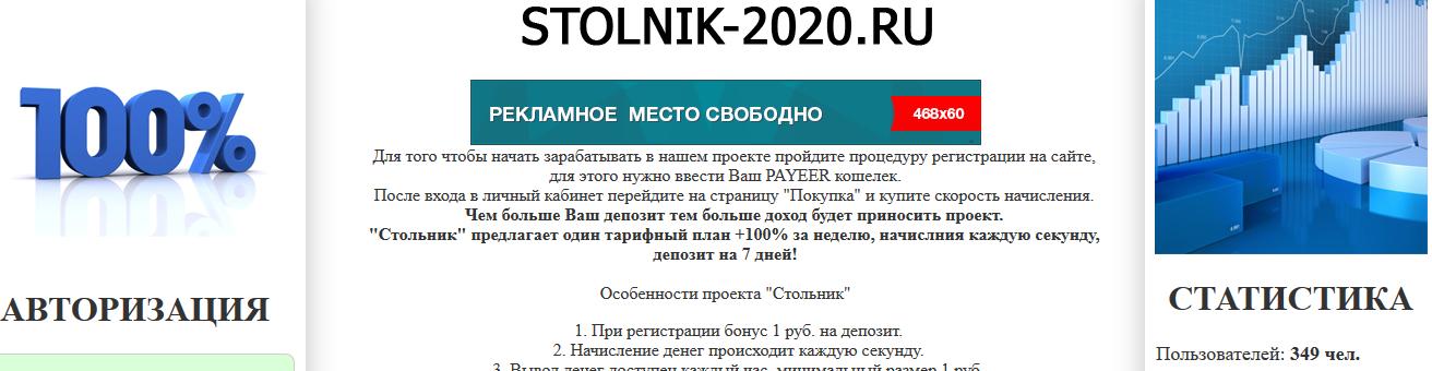 Мошеннический сайт stolnik-2020.ru – Отзывы, развод, платит или лохотрон?