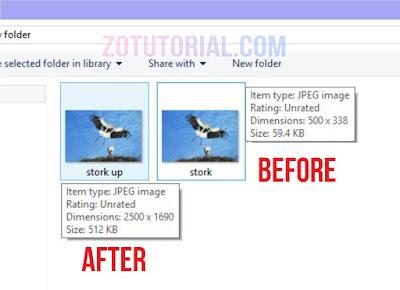 Tutorial Memperbesar Ukuran Foto di Laptop dan Android