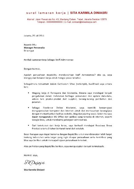 contoh cover letter fresh graduate nursing