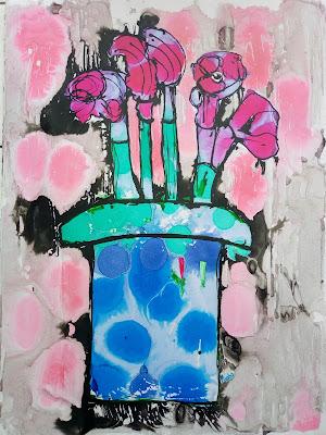 ABSTRACT  BULB FLOWERS IN A POT, MIABO ENYADIKE