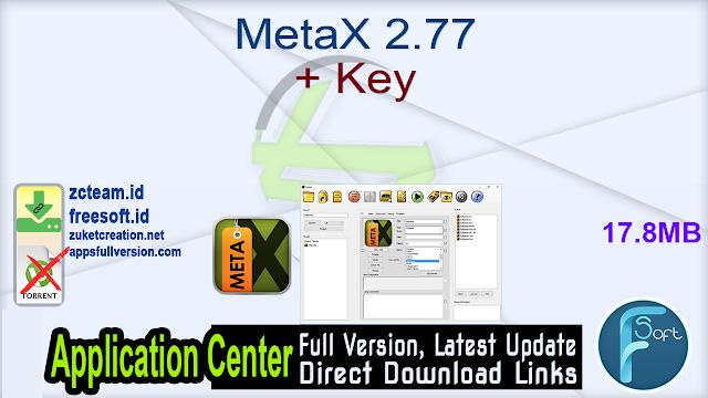MetaX 2.77 + Key_ ZcTeam.id