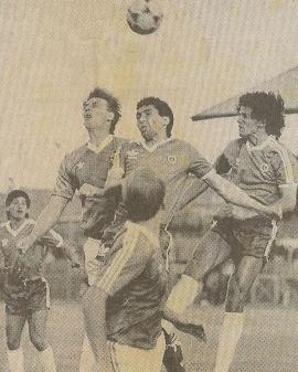 Irlanda del Norte y Chile en partido amistoso, 26 de mayo de 1989