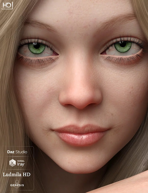 Ludmila HD For Genesis 8 Female